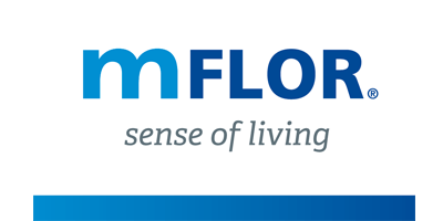 mFLOR PVC vloer logo - showroom Limburg