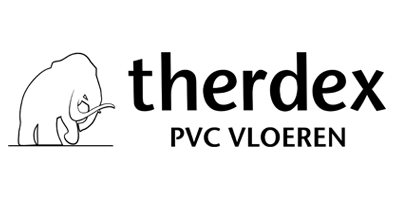 Therdex PVC vloer logo - showroom Limburg